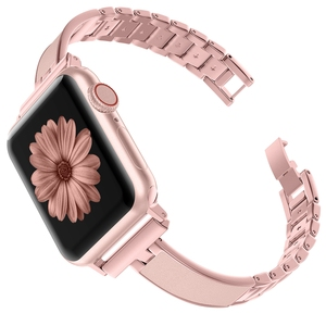Image 2 - For Apple Watch Band 40mm 44mm Series 5 Slim Replacement Wristband Jewelry Women For iWatch Series 4 3 2 1 38mm 42mm