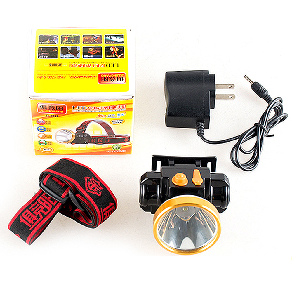 Waterproof strong light mini LED rechargeable miners lamp lithium 5W night fishing patrol headlights for outdoor lighting