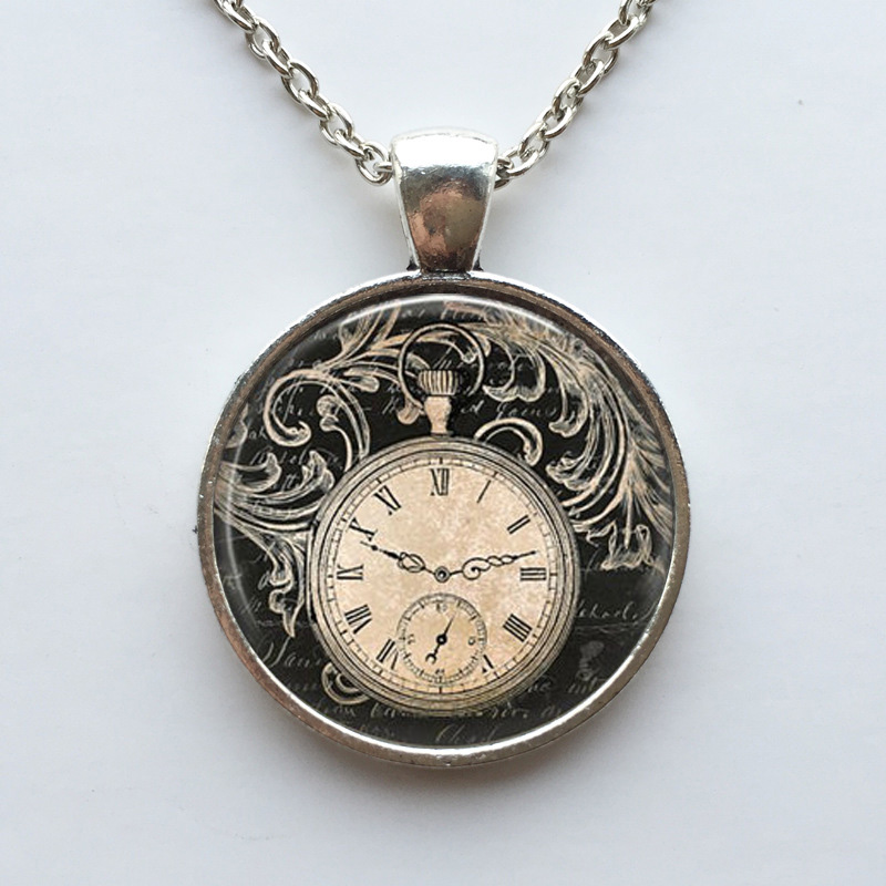necklace steampunk clock p product htm
