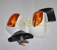 New White Rear View Mirrors Signal lens For Honda Goldwing GL1800 2001 2012