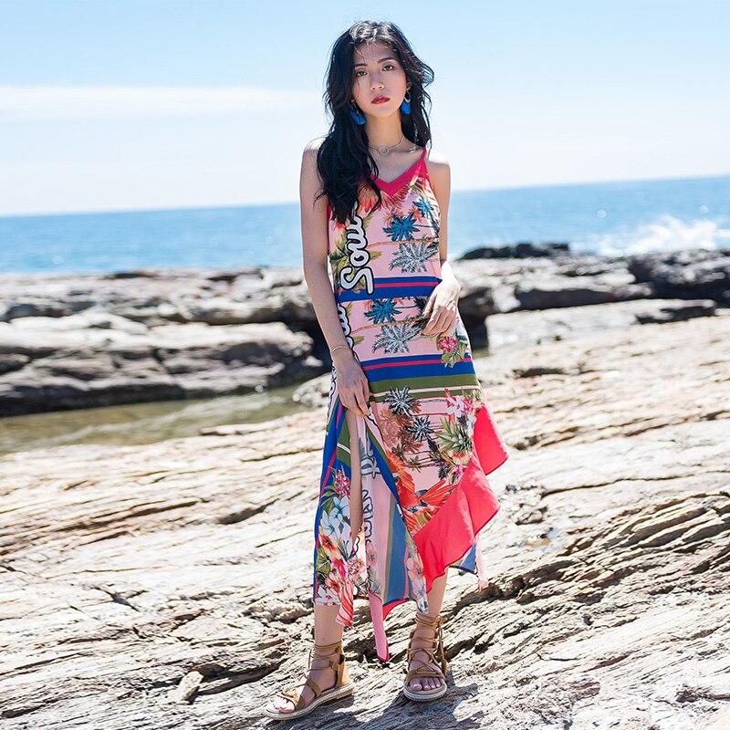 2018 New Limited Thailand Bali Island Maldives Seaside Resort Bohemia Beach Skirt Backless Dress Summer стулья для салона thailand such as