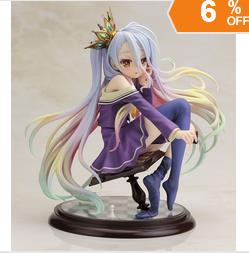 Free Shipping No Game No Life 1/8 scale Siro sexy Girl Shiro cute dolls Garage Kit Brinquedos Anime Action Figure Toys r12 sexy game