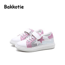 Bakkotie 2017 New Spring Fashion Girl Trainer Child Casual Mesh Sport Shoe Baby Boy Leisure Sneaker Kid Brand Breathable Stars