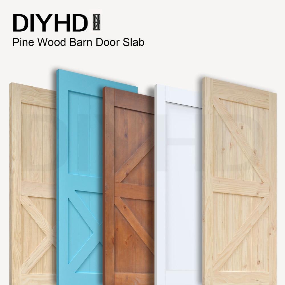diyhd 38in84in pine knotty sliding barn wood door slab twoside style barn door