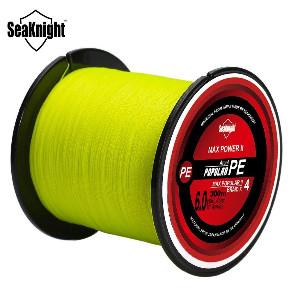 SeaKnight 20 pcs/lot vente en gros 4 brins tressé TriPoseidon 300 M ligne de pêche PE ligne de pêche Multifilament ligne de pêche 8-60LB
