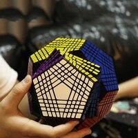 1 шт. 9*9*9 высокая степень сложности Megaminx Dodecahedron 12 Двусторонняя скорость магический куб головоломка Обучающие Детские игрушки для детей Пода