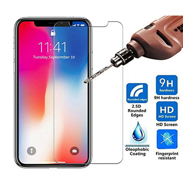 500pcs DHL Normal Tempered Glass for iPhone X XS MAX XR Screen Protector Protective Guard Glass