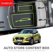 ZUNDUO для HYUNDAI Кона 2018 автомобиля центральный подлокотник ящик для хранения Геометрия алмаз моды текстура красный, зеленый