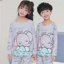 Купить с кэшбэком Girls Pajamas Suit 2019 Spring Children Pajamas Set Cartoon Boys Sleepwear Set Cute Long Sleeve Kids Homewear Baby Nightwear