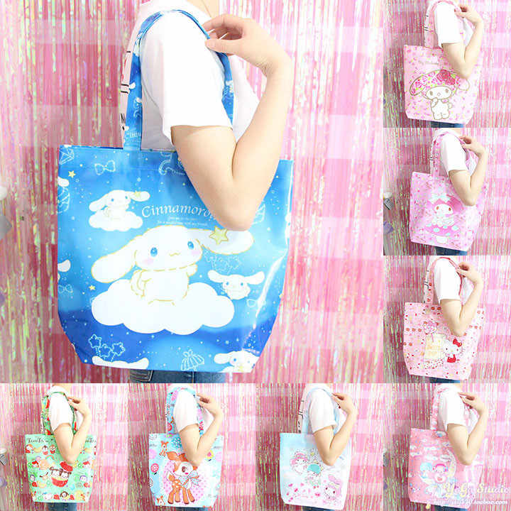 Cartoon Cute Hello Kitty My Melody Cinnamoroll Dog Mickey Minnie Little  Twin Stars Shopping Bag Shoulder d8c3211f1c