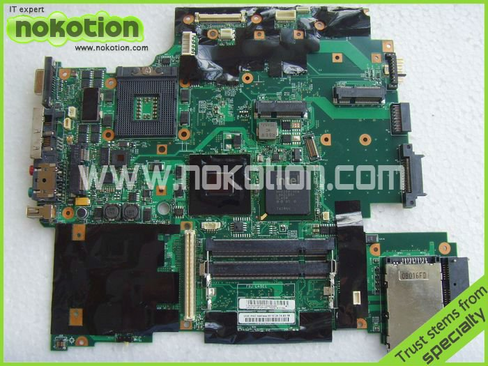 NOKOTION FRU: 42W7651 42W7875 FIT FOR Lenovo thinkpad IBM R61 T61 15.4 LAPTOP MOTHERBOARD 965GM 9cells new laptop battery for lenovo ibm thinkpad t61 r400 r61 r61i t400 43r2499 42t4644 42t4531