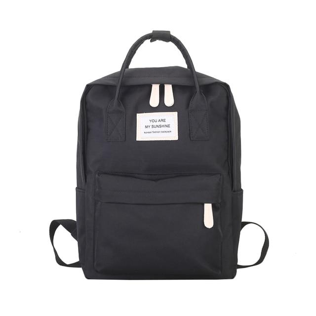Women Canvas Backpacks Candy Color Waterproof School Bags for Teenagers Girls Big Cute Laptop Backpack Patchwork Kawaii Backpack | healthy feet socks