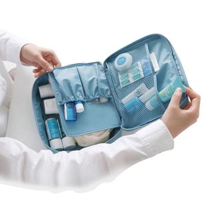BAGSMALL путешествий косметичка Водонепроницаемый Polyster ручная кладь Travel Kit Портативный висит туалетные сумки складной макияж организатор