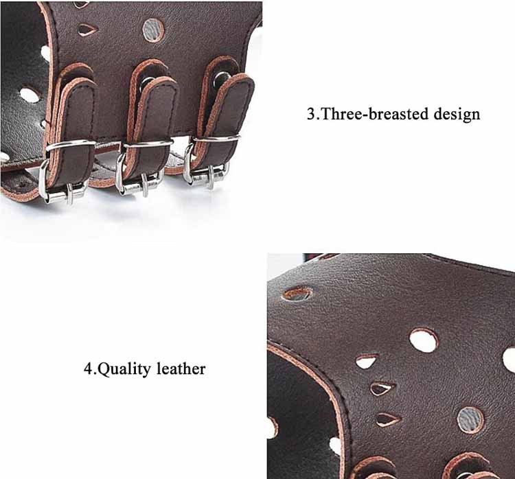 Luxury Leather Pet Dog Muzzle Adjustable Dog Mask Muzzle Grooming for Small large Dogs Anti Bite Safety and Breathable7