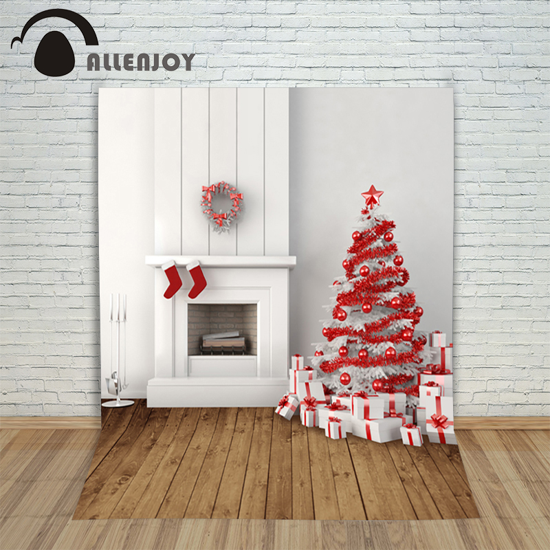 Christmas photography backdrops 5x7ft xmas Board fireplace tree gift ball baby photocall background for photographic studio allenjoy christmas photography backdrop wooden fireplace xmas sock gift children s photocall photographic customize festive
