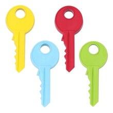 Карамельный цвет стоп двери Силиконовые Ключ Стиль Клин защиты детей Детская безопасность Фиксаторы-b116