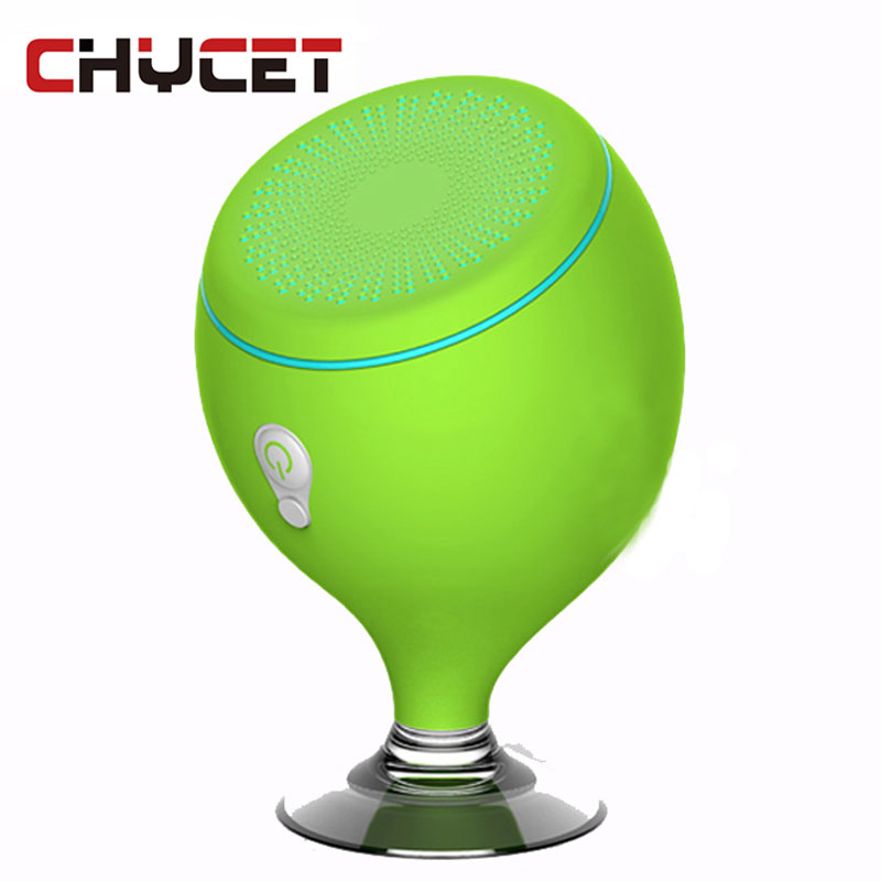 Chycet S6 Waterproof Wireless Bluetooth Speaker Sucker Mini Shower Music Player For Bathroom Outdoor Bass Loudspeaker
