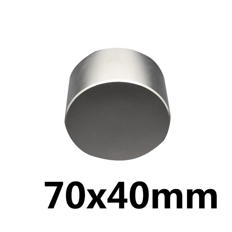 1PCS N35 Neodymium magnet 70X40 mm gallium metal super strong magnets 70*40 round magnet powerful permanent magnetic 70X40mm