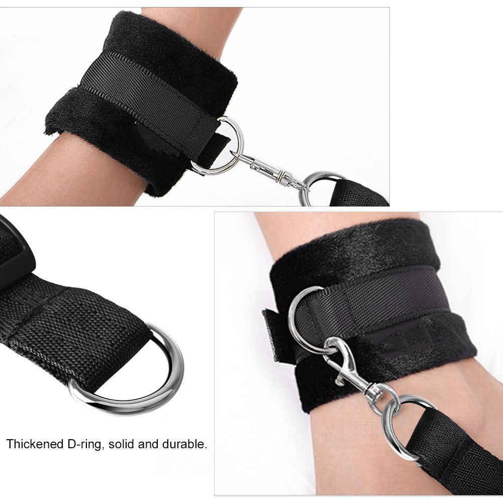 ของเล่นเพศเร้าอารมณ์ Handcuffs Whip หัวนมคลิป Blindfold Gag ของเล่นสำหรับผู้ใหญ่ชุด BDSM Bondage ของเล่น Flirt เกมสำหรับคู่