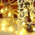 1.5 м 10 из светодиодов гирляндой , работающий от аккумулятор нью-пятиконечная звезда из светодиодов огни строки для свадьбы рождество ну вечеринку открытый гирлянда украшения