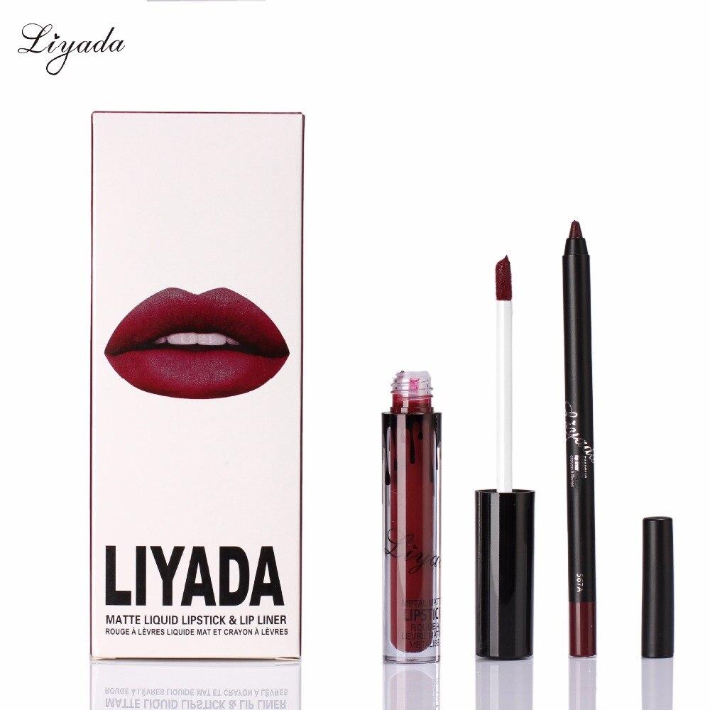 Fashion New Matte Liyada Lip Gloss Liquid Lipstick+Lips ... - photo #7