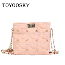 TOYOOSKY chain shoulder bag for women small handbag purse with rivets 2018 summer female crossbody bags mini clutch