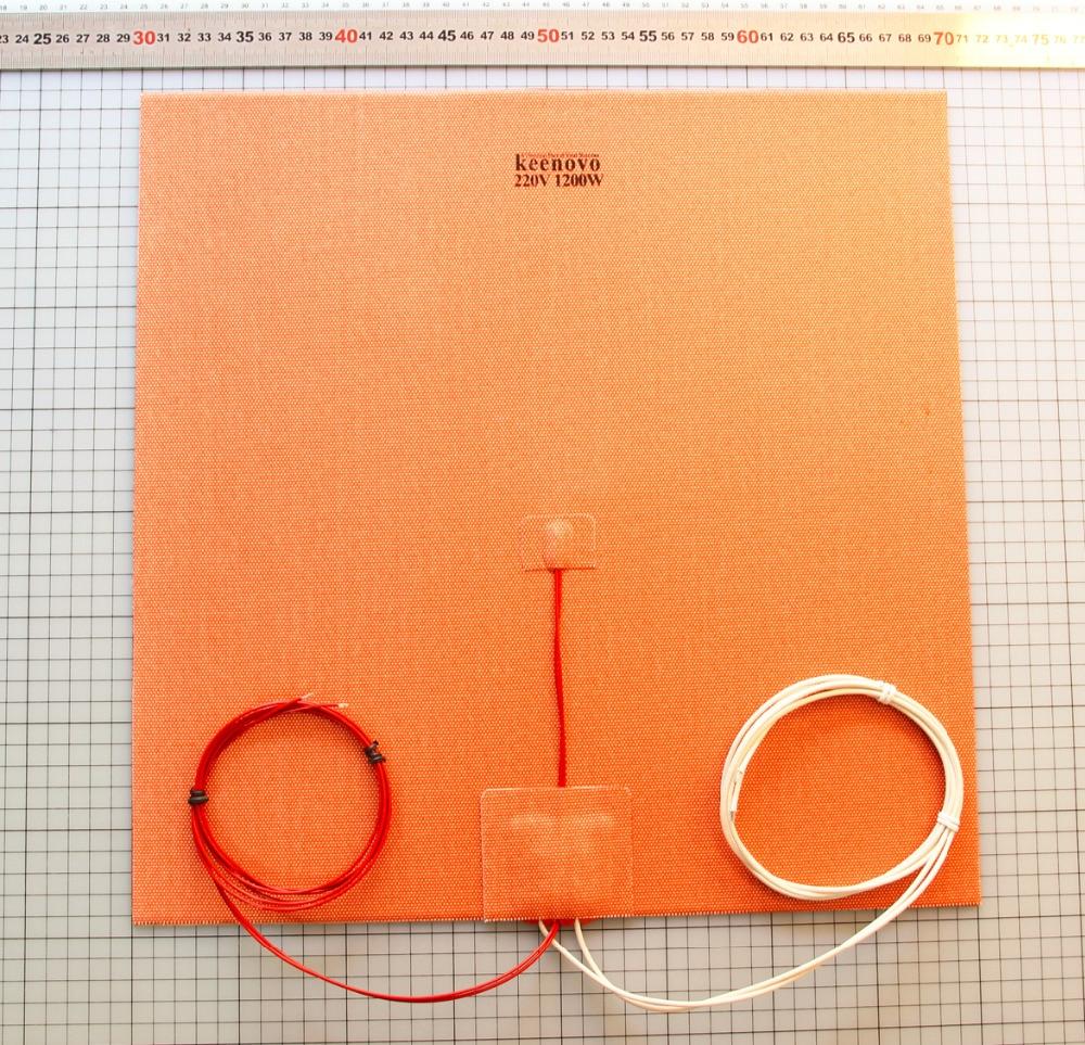 400X400mm 1200 W w/NTC 100 K thermistance Keenovo coussin chauffant en Silicone pour énorme plaque de construction de lit chauffant pour imprimante Mega Cube 3D