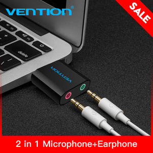 Vention Mini External USB Sound Card USB To 3.5mm For Mic Speaker Laptop PS4