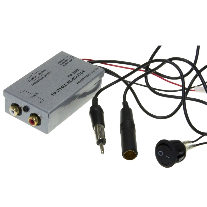 Universal Fm Modulator Stereo Mp3 Auto Antenne Kabel Auto Radio Cinch Aux Adapter
