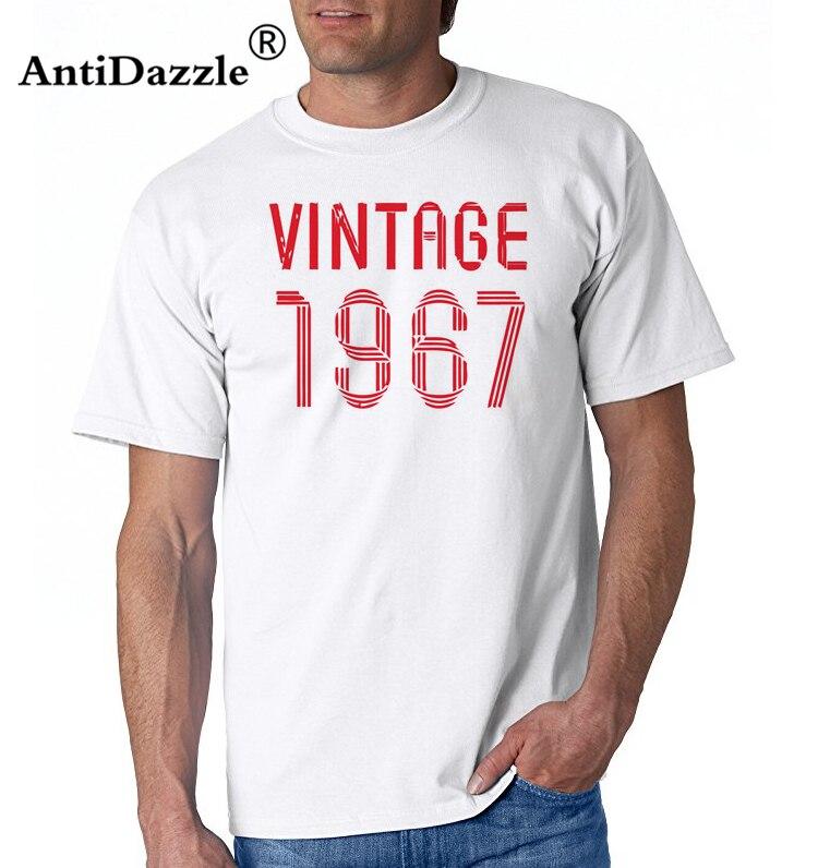 Vintage 50th 1967 Birthday Present Gift New Custom Ladies T-shirt