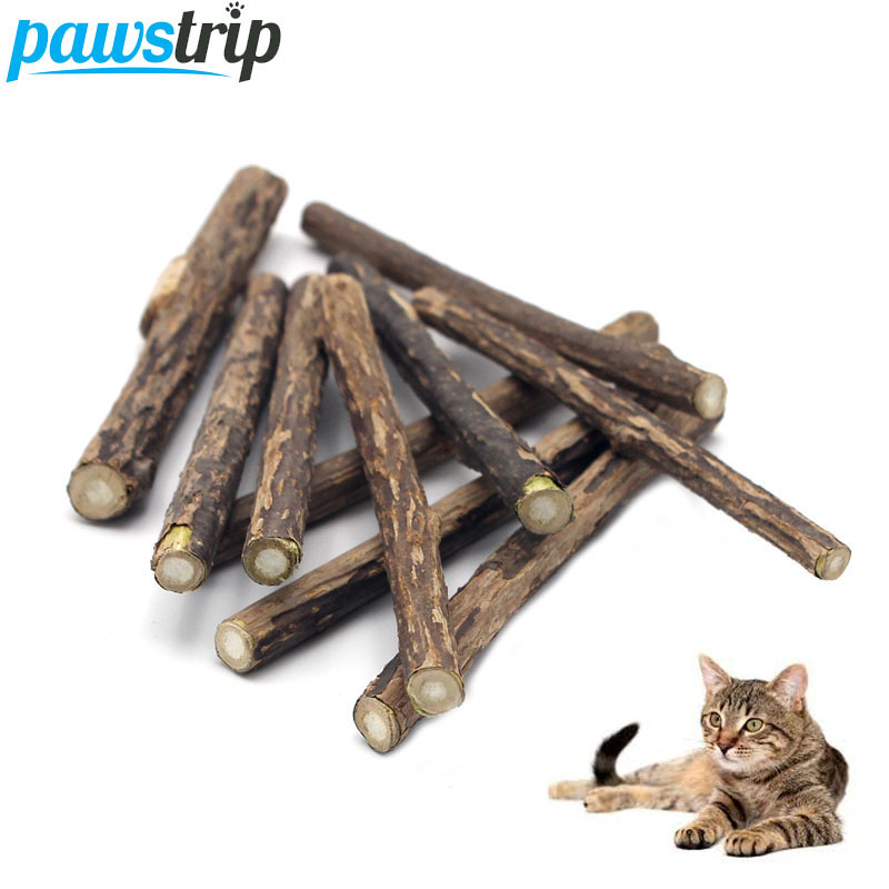 10pcs/lot Natural Matatabi Pet Cat Snacks Sticks Cleaning Tooth Catnip Cat Toys Actinidia Silvervine Pet Toy For Cats