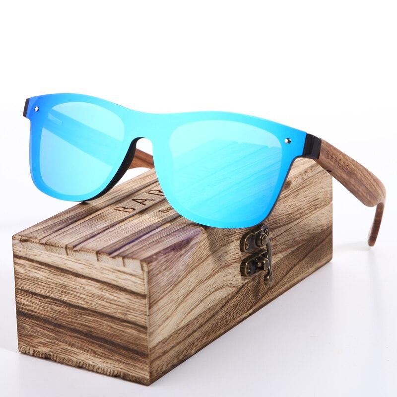 BARCUR 2018 Holz Gläser Schwarz Nussbaum Sonnenbrille Brillen Zubehör Weibliche/Männliche Sonnenbrille Randlose für Männer gläser