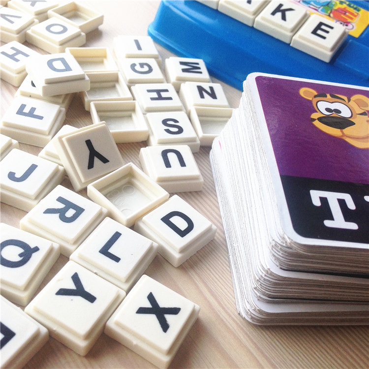 Children Baby English Learning Word Card Free Game Desk Toy