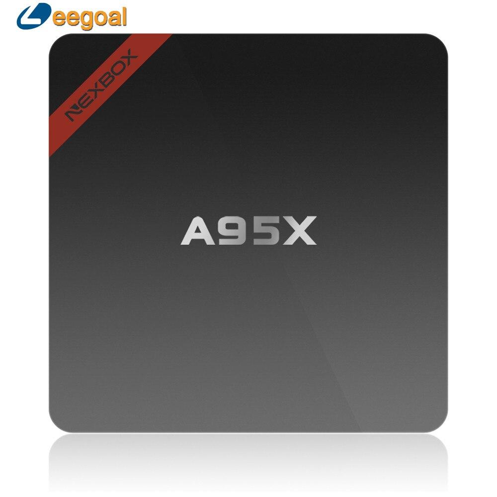 Max 2 gb + 16 gb nexbox s905x a95x tv box smart tv amlogic quad core 64Bit WiFi