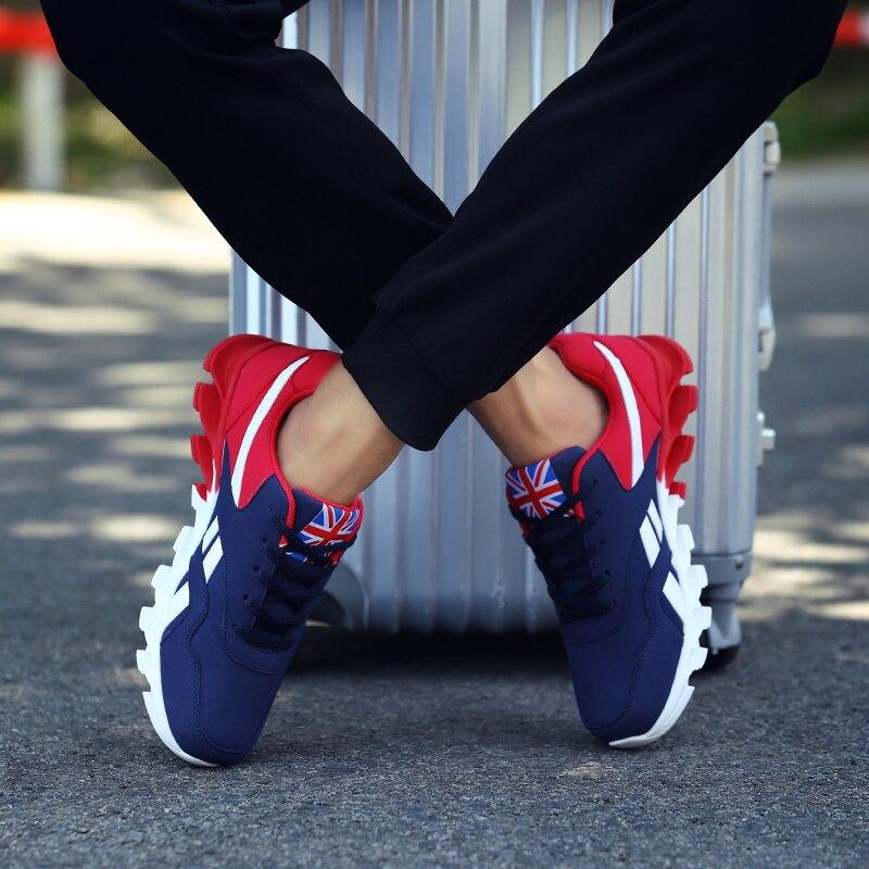 LZJ grande taille 48 mode baskets pour hommes chaussures décontractées en cuir hommes chaussures décontracté respirant léger hommes baskets formateurs 2019 nouveau