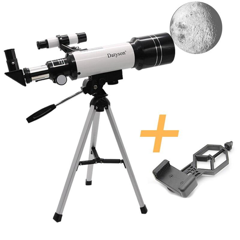 Datyson F40070M HD Astronomical Telescope with Tripod Monocular Moon Bird Watching Kids Gift Match Phone Adapter