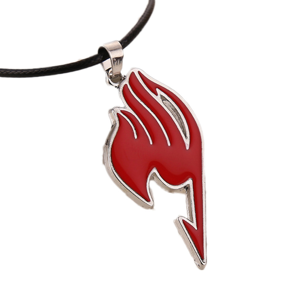 Drop Shipping Charming Jewelry Alloy Fairy Tail Guild Sign Pendant Necklace 4 Colors NL-0771