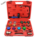 21pcs Radiator Tester of Automotive Cooling System Radiator Pressure Tester Pump Gauge Adapter