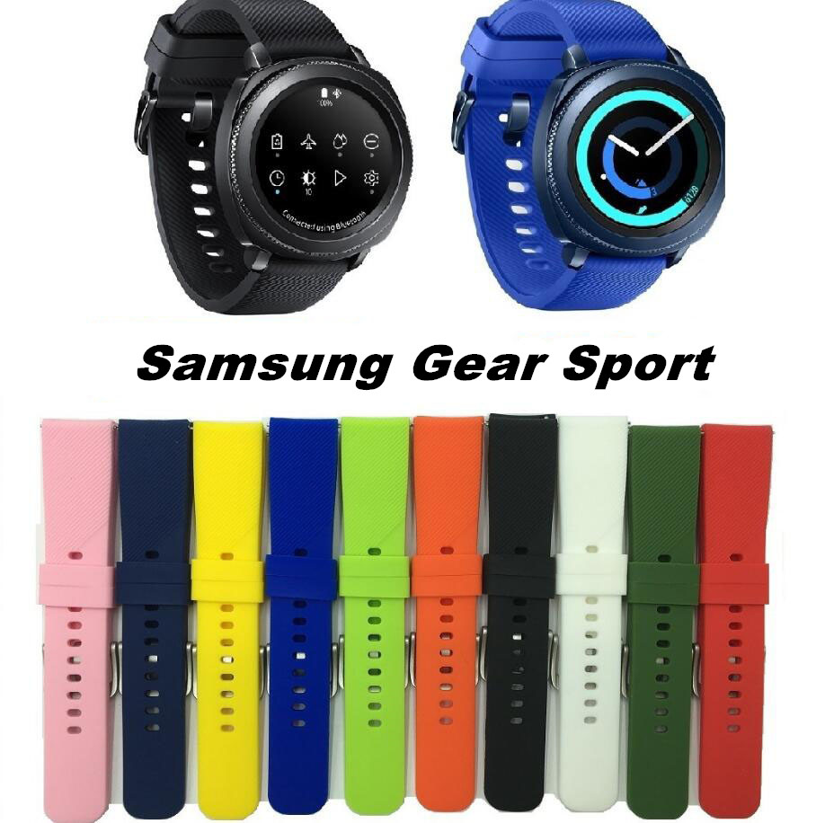 8 Colors 20mm Width for Samsung Gear Sport Strap Metal Buckle Band Silicone Watchband for Samsung Gear S2 Classic Strap цена и фото