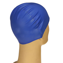 JHO Silicone Unisex Men Women Adults Swimming Pool Swim Cap Hat Protect Waterproof