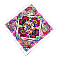 Big Square Embroidery Patches Ethnic BOHO Retro Folk Heavy Embroidery Garment Accessories Parches Para La Ropa Applique