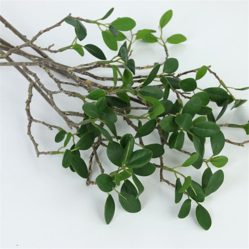 6pcs Fake Single Stem Milan Bunch (3 stems/piece) Simulation Greenery for Wedding Showcase Decorative Artificial Green Plant