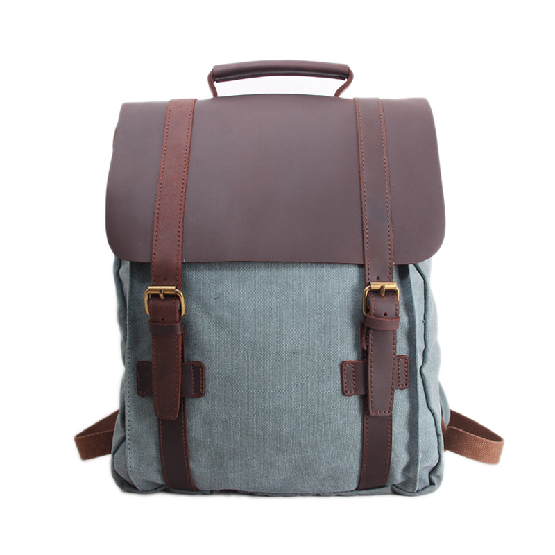 Retro Canvas Leather Backpack Casual Backpack School Backpack Travel Backpack 1820 chic canvas leather british europe student shopping retro school book college laptop everyday travel daily middle size backpack