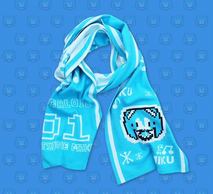 Anime VOCALOID Hatsune Miku Snow Miku Scarf Cosplay Costumes Daily Casual Shawl Cute All-match Neckerchief Cappa