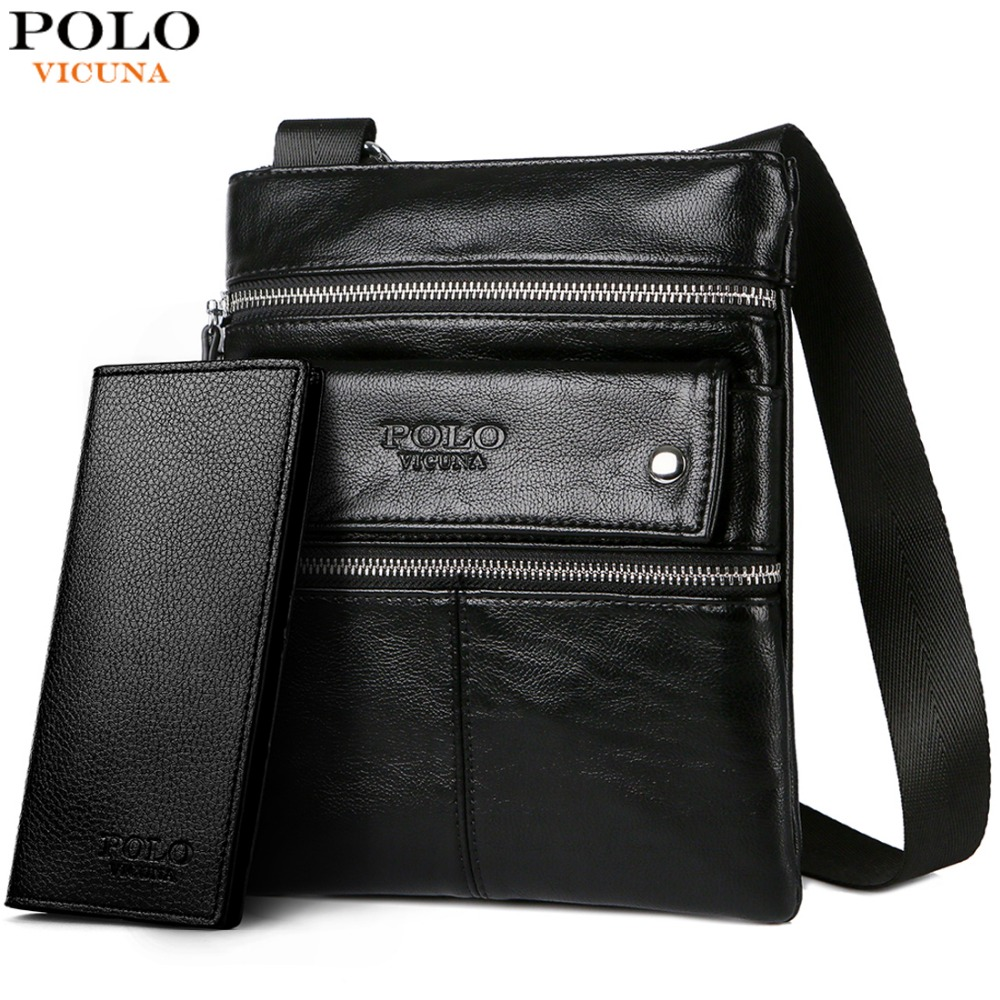 ef7100b5b3 Detail Feedback Questions about VICUNA POLO Leather Messenger Bag With  Front Pocket Famous Brand Business Man Bag Men Handbag Vintage High Quality  Shoulder ...