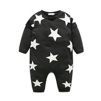 Kids Clothes Brand 2017 Spring And Fall Baby Girls Boys Clothes Cotton Long Sleeved Star Pattern
