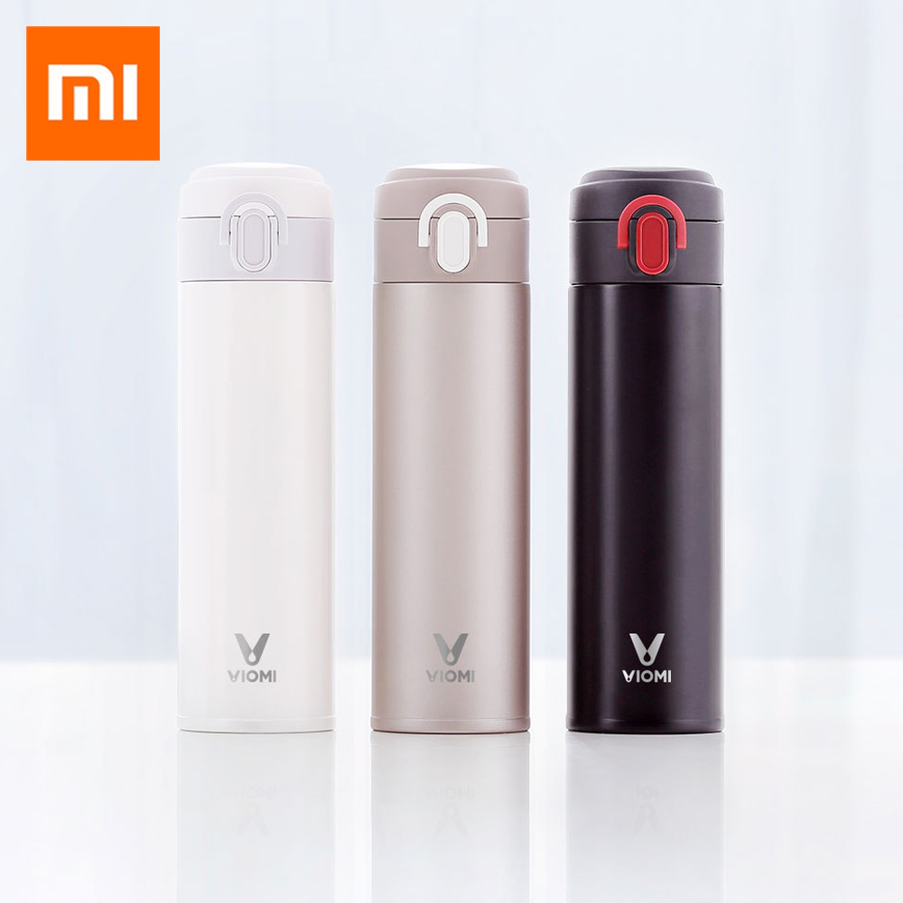 Original Xiaomi Mijia VIOMI Thermos Stainless Steel Cup Flask Water Bottle Cup 24 Hours Thermos 300ML/460ml Single Hand ON/Close a07 stainless steel vacuum flask bottle cup blue silver 300ml