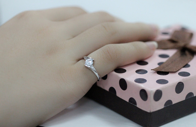 Cute Female Small Zircon Stone Ring 925 Silver Wedding Jewelry Promise Engagement Rings For Women 19 Valentine's Day Gifts 8