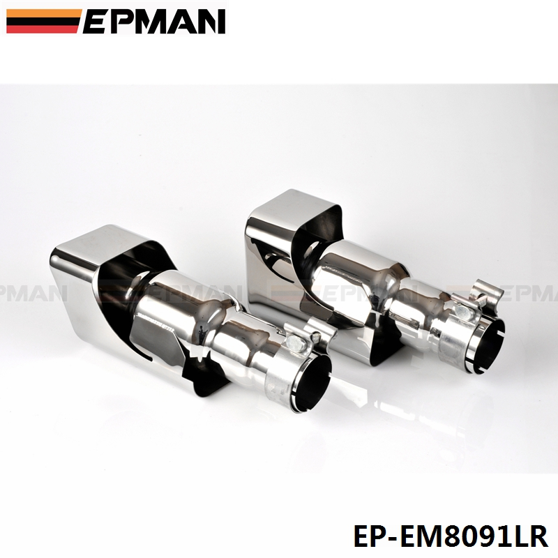 2pcs//set Stainless Steel Exhaust Tips fit for 12-13 Range Rover gasoline sports