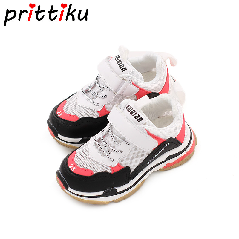 Summer 2018 Baby Toddler Girl Boy Breathable Air Mesh Sneakers Little Kid Casual Sport Trainers Big Children School Brand Shoes